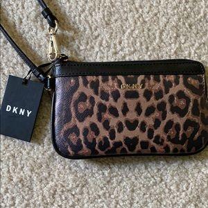 DKNY Leopard Wristlet